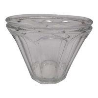 Antique XIXth century molded glass jam pot - French item - Collectible - Decoration