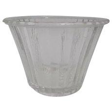 Antique XIXth century glass molded jam pot -