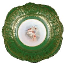 "Lovely antique 1880-1890 decorative porcelain bowl or cup titled ""June"". Blue signature – German factory"