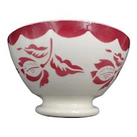 Vintage footed soup bowl - Earthenware Signature Digoin - Floral - Flowers pattern -  Very rare pattern