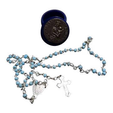 Young lady chaplet - miniature chaplet in its very small case - Notre Dame de la Garde Marseille South of France
