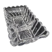 Antique Baccarat ashtray- Molted crystal - Bambou tors model circa 1890