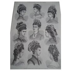 "Very interesting book containing a full year collection of the famous French newspaper  ""La mode illustrée"" - 1875 (another one) - Fashion - Hairstyle - Decoration"