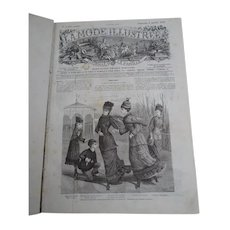 "Very interesting book containing a full year collection of the famous French newspaper  ""La mode illustrée"" - 1878 - Fashion - Hairstyle - Decoration - Jewels - Children"