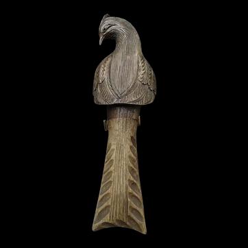 Switzerland, antique wooden nutcracker the peacock, circa 1880-1890