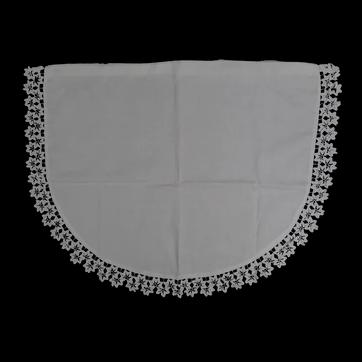 Vintage handmade semi-circular baby pillowcase