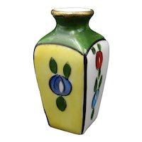 Vintage Limoges miniature vase - For doll house - Late Art Deco - Floral pattern