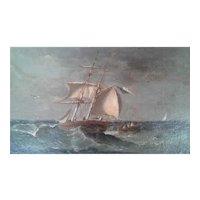 Seascape by Paul Seignon (France 1820-1890)