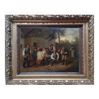Happy Group by Franz von  Defregger   (Austrian 1835-1921) 19th Century Painting