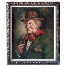 Portrait of Old Man by RENÉ  BERTI (Italian 1884-1939)