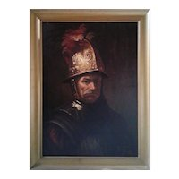 """Copy of Rembrandt """"THE MAN with the GOLDEN HELMET """" by Savella (19th century)"""