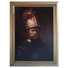 "Copy of Rembrandt ""THE MAN with the GOLDEN HELMET "" by Savella (19th century)"