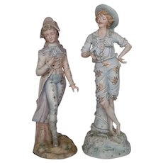 Rudolstadt  Pair of  Porcelain Figurines of Man and Woman 19th Century