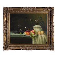 Still Life Original Oil Painting, ca 1900