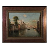 "Oil on Canvas ""Venice"" by B.Mansi , circa 1920"