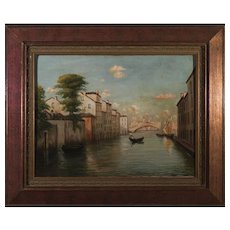 "Oil on Canvas ""Venice"" by B.Mansi , circa 1920"