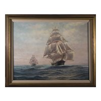 Seascape by  Henry Plawin Oil Painting, 20th Century