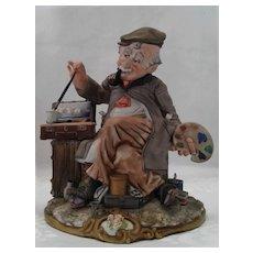 "Capodimonte "" Painter"" by Viertasca ,Italian Porcelain Figurine, ca 1925"