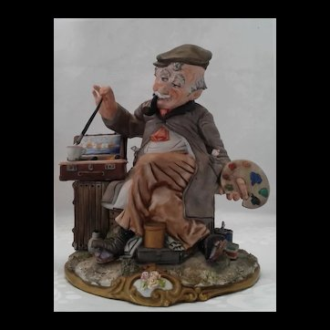 "Capodimonte "" Painter"" by Viertasca ,Italian Porcelain Figurine, ca 1925"