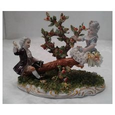 "Capodimonte "" Swing"" by San Marco Italian Porcelain Figurine, ca 1925"
