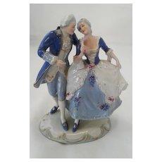 Vintage Royal Dux Porcelain Figurine of Dancing  Couple, ca 1960