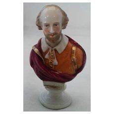 Sitzendorf  Porcelain Bust of William Shakespeare, ca 1890
