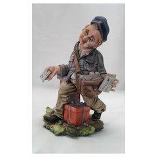 "Capodimonte "" Postman"" by Viertasca ,Italian Porcelain Figurine, ca 1925"