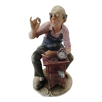 "Capodimonte By Pucci ""Clock Watchmaker"", ca 1940"