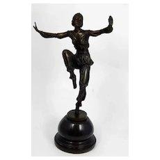 Art Deco Bronze Sculpture of Dancer, P. Laurel, ca 1930