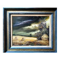 Powerful  Storm  by  Andre Wanzel (b. 1907) Oil Painting, 20th Century