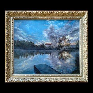 Russian Village by Svetlana Koksharova Original Oil Painting, 21th Century