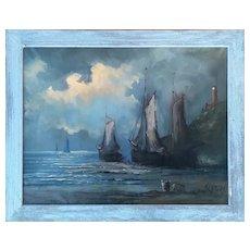 Scapa Flow by Herman Lamers (German Artist, 1918-1988), ca 1960