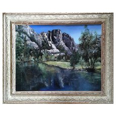 Sparkling Mountains by Svetlana Koksharova Original Oil Painting, 21 Century