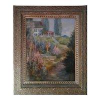 Sunny Morning Original Oil Painting, 20th Century