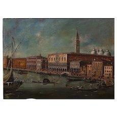 """Venetian"" Original Oil Painting,19th Century"