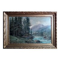 R. Eicher - New Jersey Impressionist Oil Painting Listed Artist, ca 1930