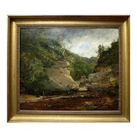 James B. Dalziel (British, 1851-1908)Original Oil Painting, ca 1879