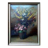 """Still Life"" Original Oil Painting by Wilhelm Schulze (German Artist)"