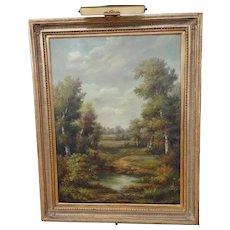 """""""Landscape"""" by G.Cotner Huge Original Oil Painting"""