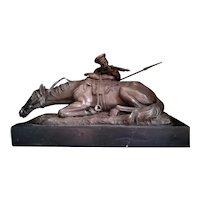 Evgeni Alexandrovich Lanceray Russian Bronze Cossack ,19th Centure