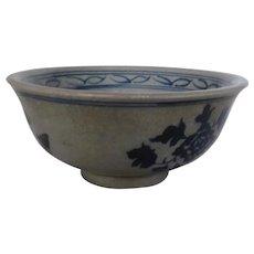 Chinise Kangxi Blue & White Porcelain Bowl Xuande Mark, 20th Century