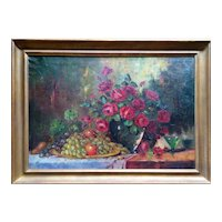 """""""Still life"""" by Jean Laudy Original Oil Painting, 19th Century"""
