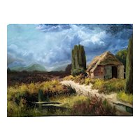 """Calm Before Storm"" Original Oil Painting, 20th Century"
