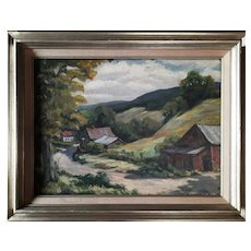 """Village"" Original Oil Painting"