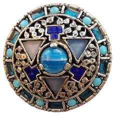 Signed Celtic Irish Vintage Brooch Pin by Miracle
