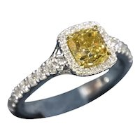 KAHN GIA 1.58 Carat Fancy Brown Yellow Diamond 18k Ring