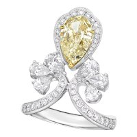 GIA 18K Gold and Diamond Ring with 2.26CT Yellow Diamond