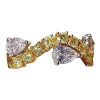 Eternity Yellow and White Diamond 18k Ring