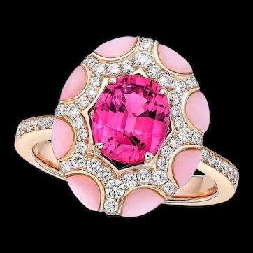 Kahn 1.92 Carat 18k Pink Sapphire Ring