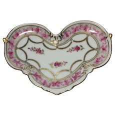 Small Porcelain Hand Painted Heart Tray